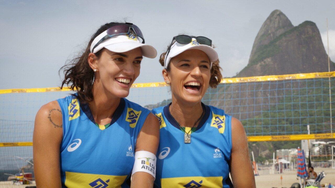 Atletas no vôlei de praia, Bárbara Seixas e Fernanda falam de preparação para Olímpiadas