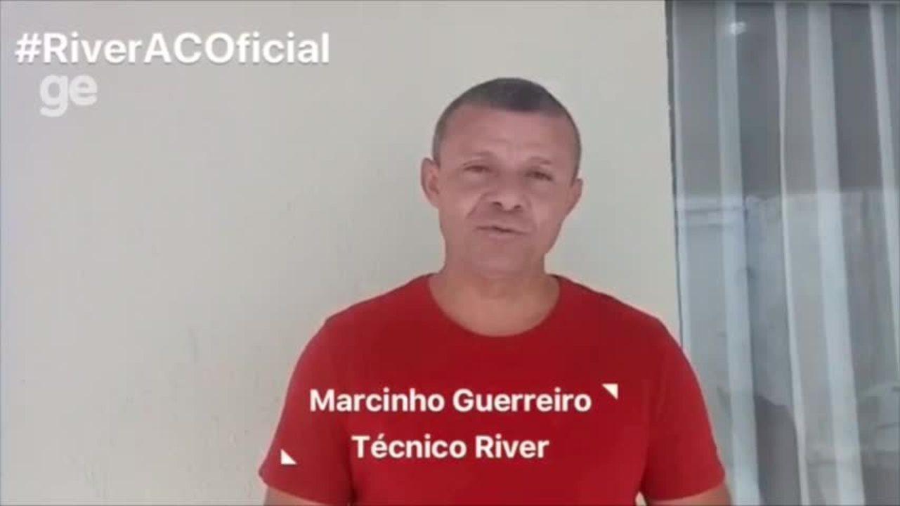 Marcinho Guerreiro manda vídeo especial para torcida do River-PI