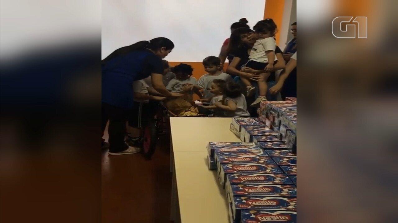 'Páscoa solidária' de cachorra leva chocolates para crianças carentes
