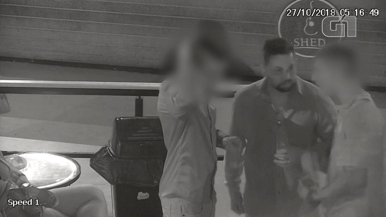 Caso Daniel: Imagens mostram Edison Brittes e Daniel na casa noturna