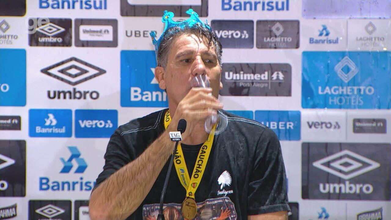 Confira a íntegra da entrevista do técnico Renato Gaúcho após o título do Gauchão