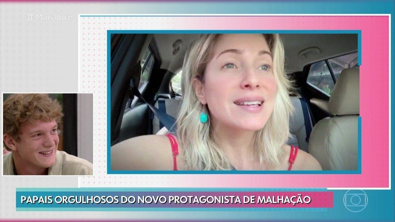 Letícia Spiller e Marcello Novaes mandam recado para o filho, Pedro Novaes