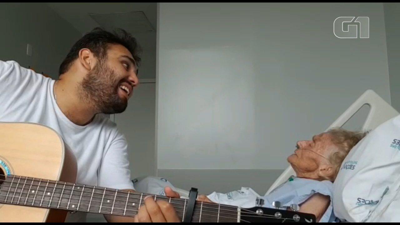 Vídeo de neto cantando com avó doente em Curitiba ultrapassa 2 milhões de visualizações