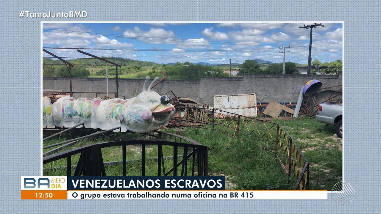 Polícia Federal resgata 10 venezuelanos fazendo trabalho escravo em oficina na BR-415