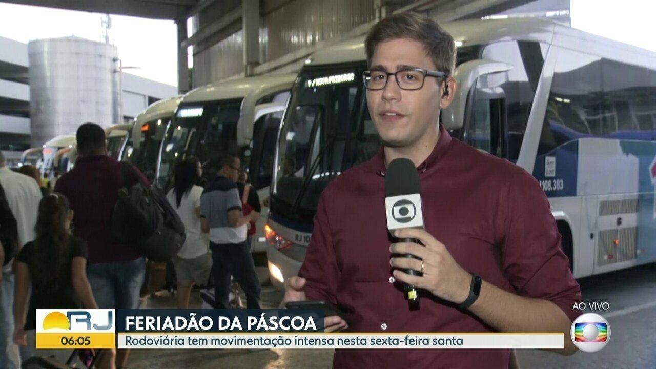 Confira o movimento na Rodoviária Novo Rio para o feriadão de Páscoa