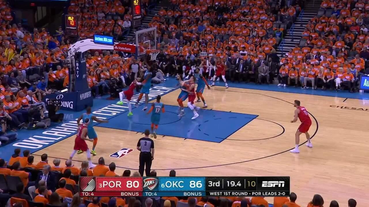 Melhores momentos: City Thunder 120 x 108 Portland Trail Blazers pela NBA
