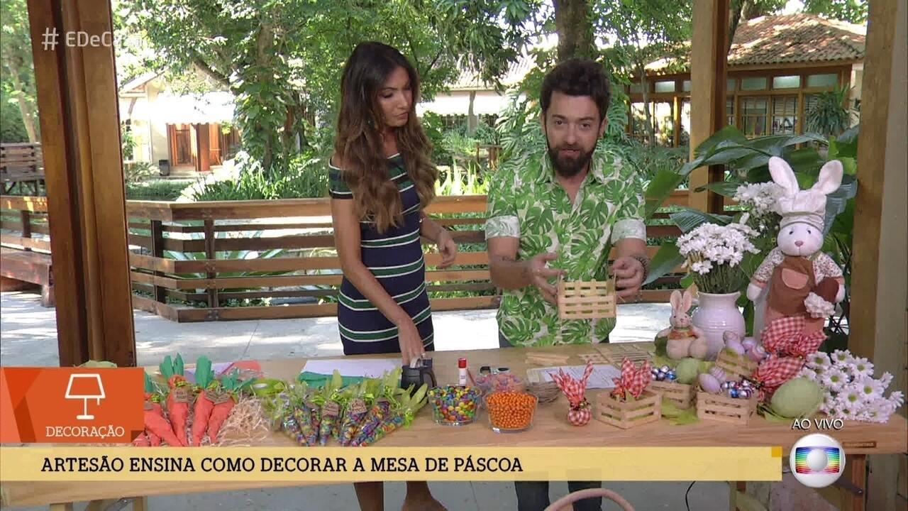 Peter Paiva dá dica para decorar a mesa da Páscoa