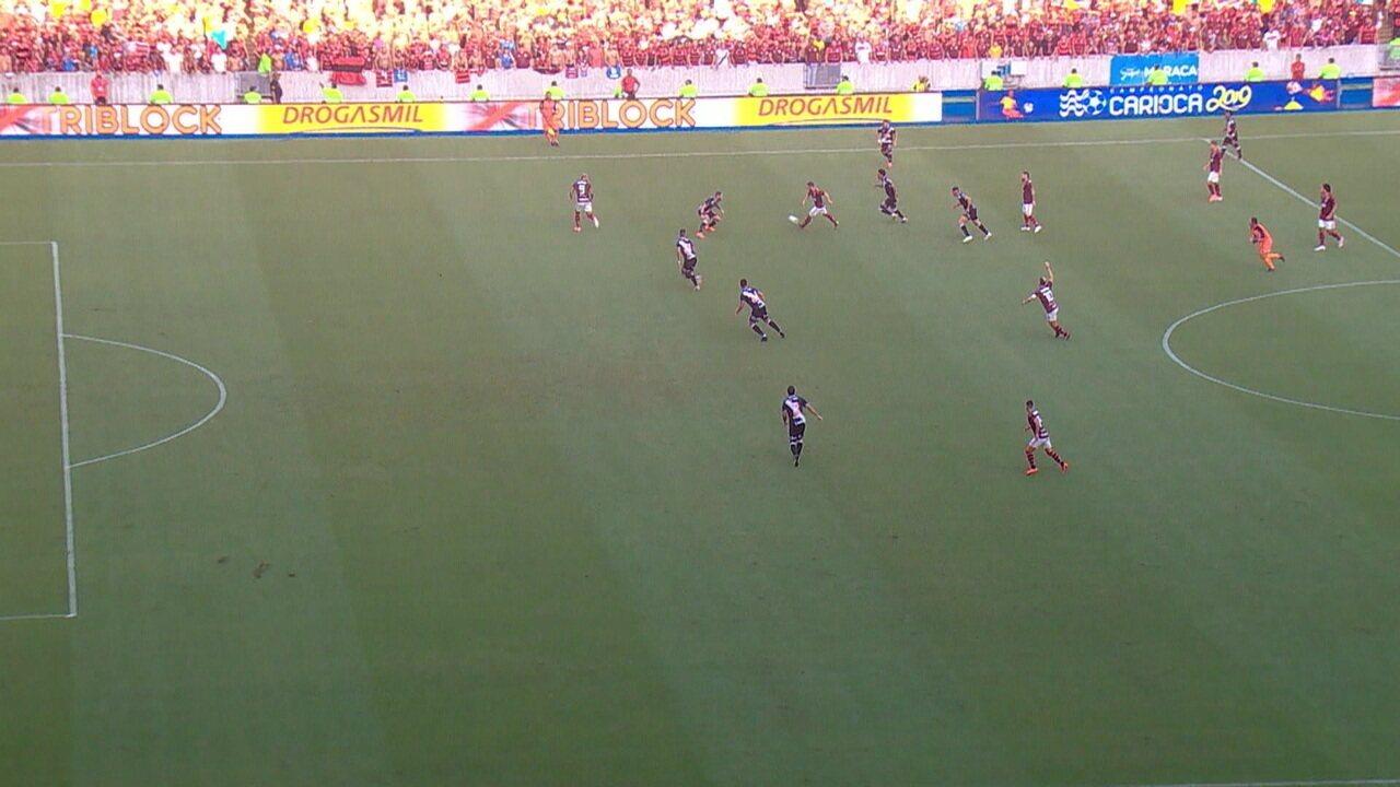 Sandro Meira Ricci analisa início da jogada do gol do Flamengo