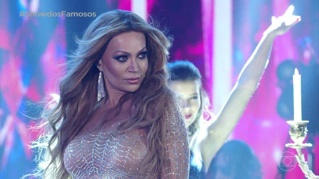Solange Almeida homenageia Jennifer Lopez no 'Show dos Famosos'
