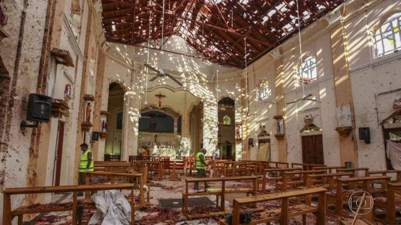 Assista à reportagem do Fantástico sobre os atentados no Sri Lanka