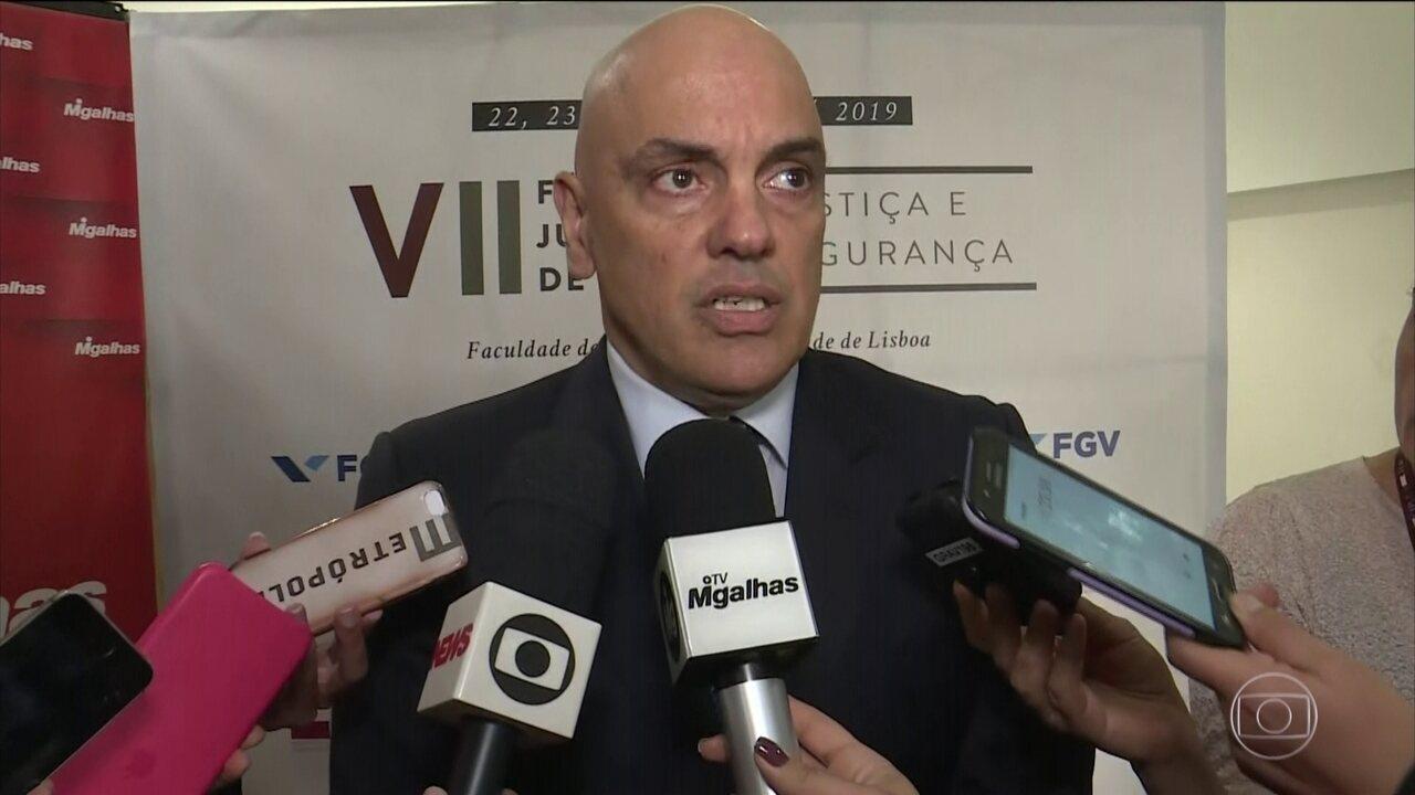 Alexandre de Moraes afirma que inquérito que apura ofensas a integrantes do STF continuará