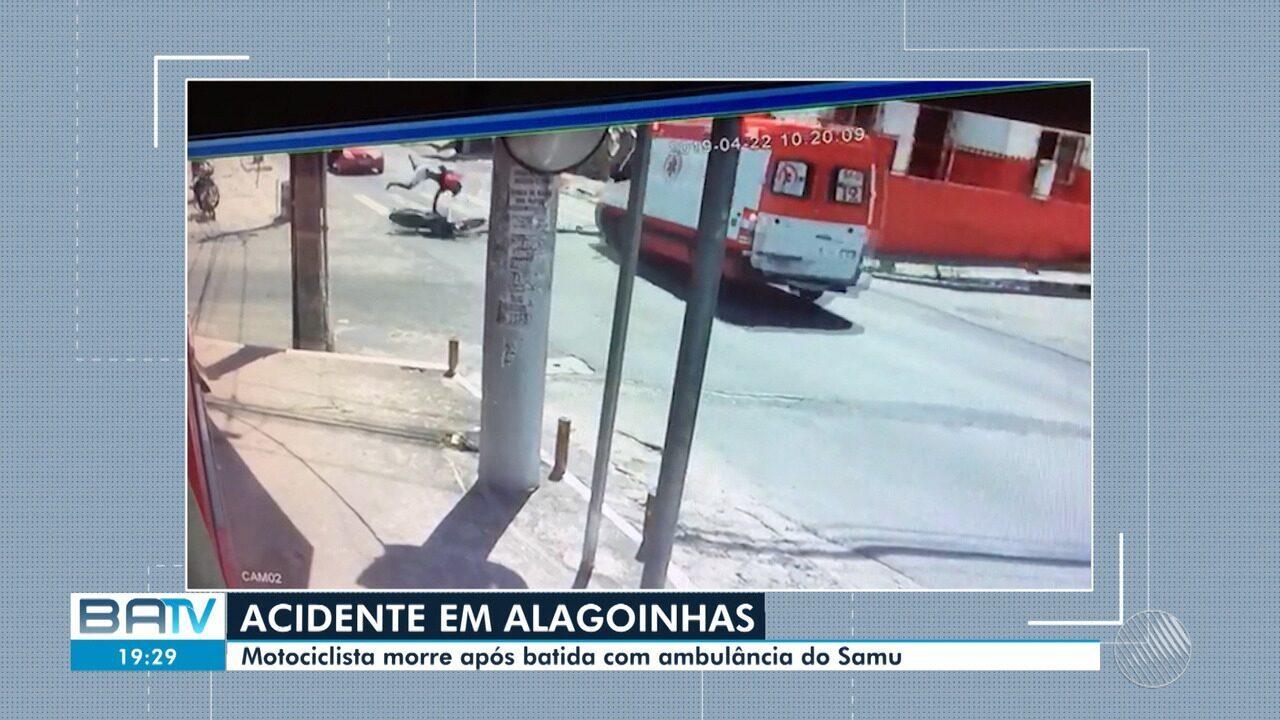 Motociclista morre após batida com ambulância do Samu em Alagoinhas