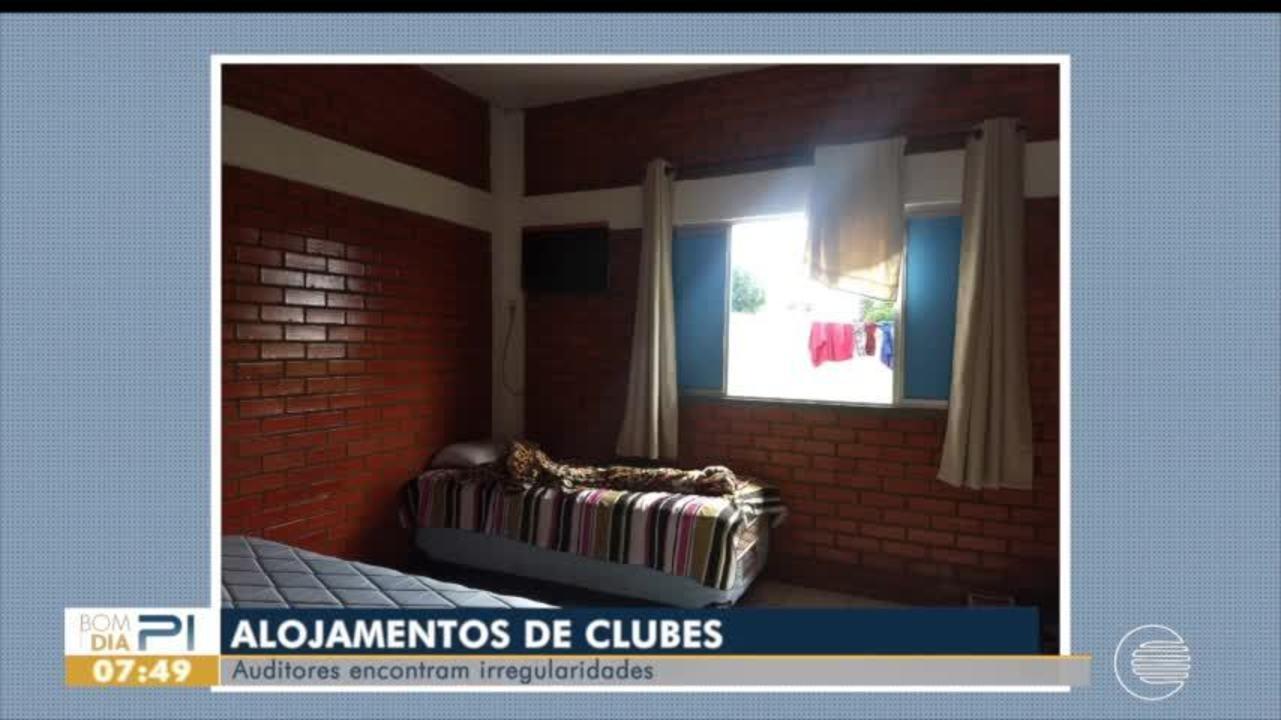 Auditores encontram gambiarras em alojamentos de base do River-PI
