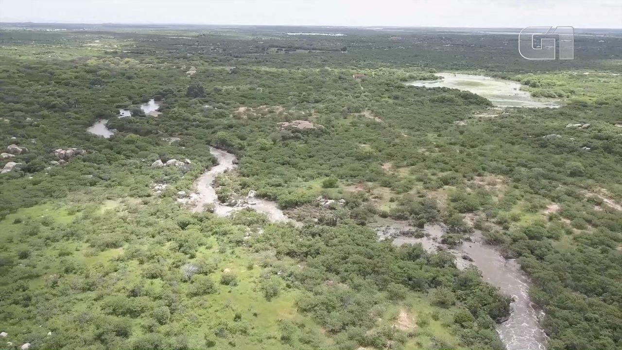Vídeo mostra imagens aéreas do Açude São Miguel II