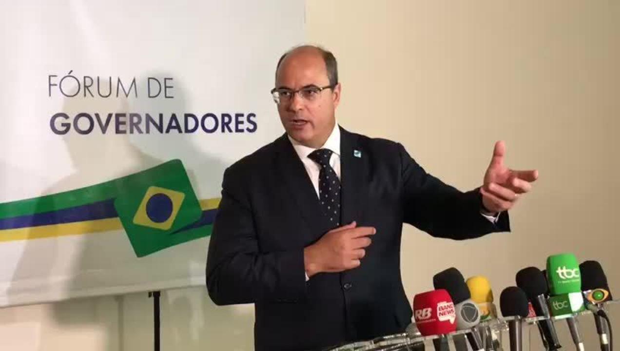 Previdência: governadores discutirão com deputados texto 'viável', diz Witzel