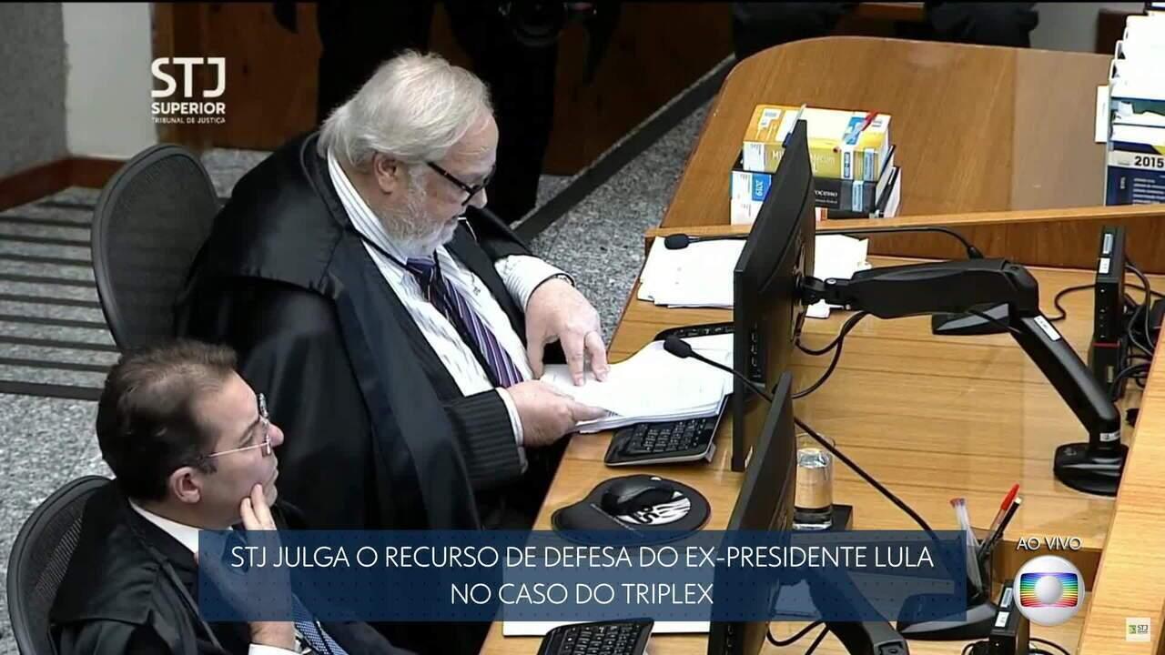 Ministro do STJ vota por diminuir a pena do ex-presidente Lula para oito anos