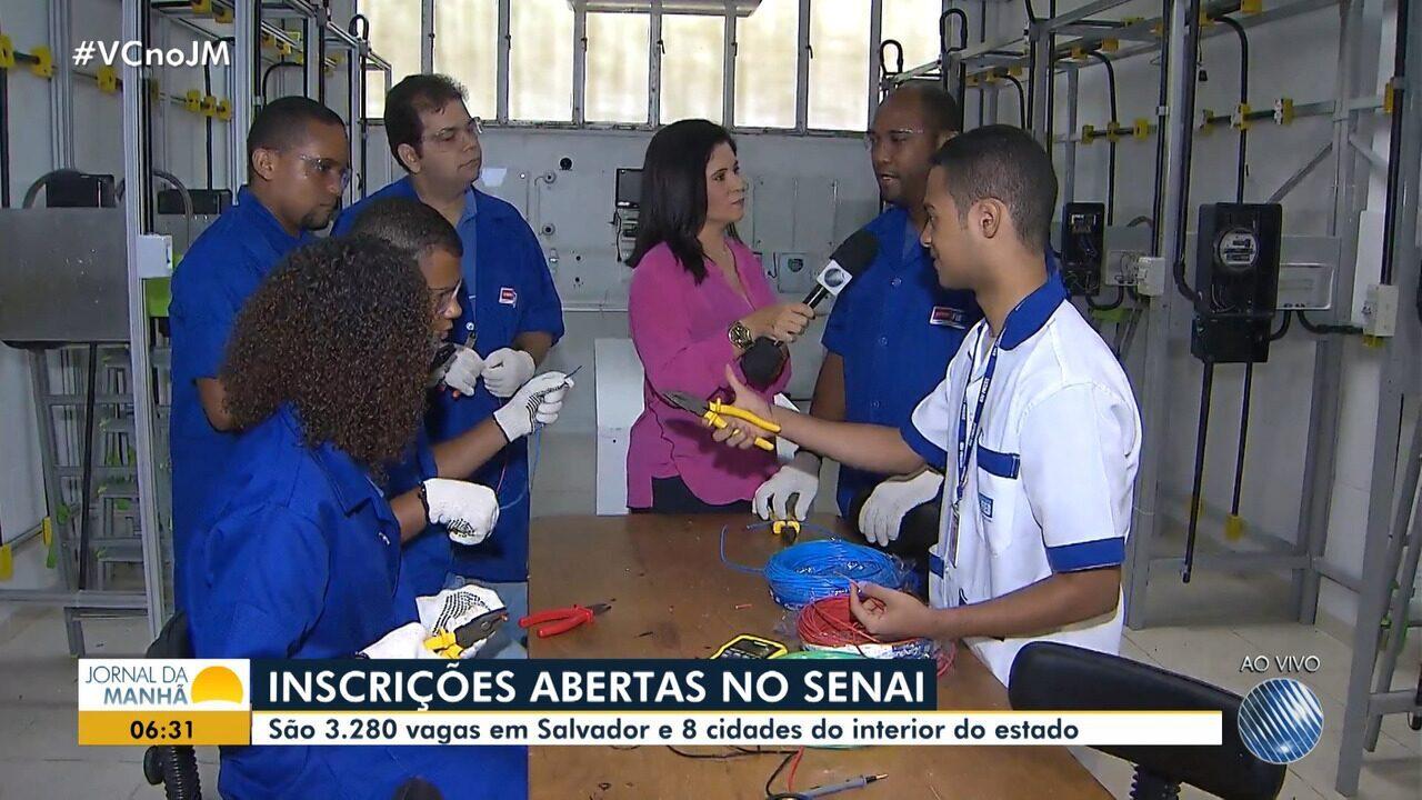 Oportunidades: Senai oferece 3.280 vagas em cursos técnicos para Salvador e oito cidades