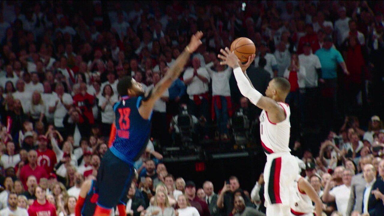 Damian Lillard acerta cesta incrível e o Portland Trail Blazers elimina o Oklahoma City Thunder na NBA