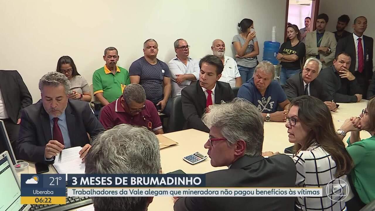Brumadinho: representantes da Vale e do MPT rediscutem pagamento de indenizações em audiên