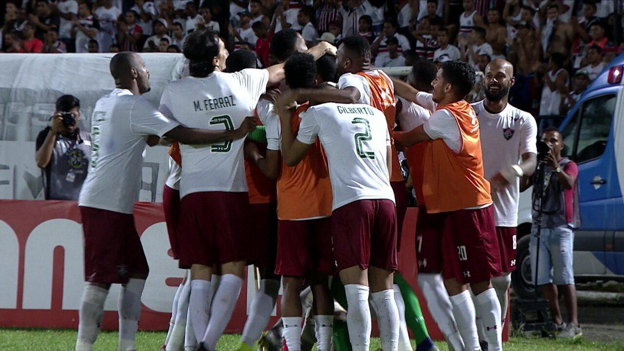 Os pênaltis de Santa Cruz 2 (2) x (3) 0 Fluminense pela Copa do Brasil