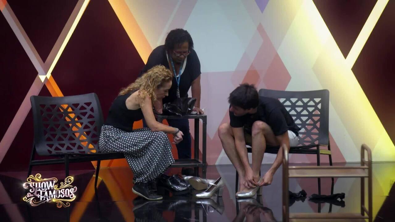 Veja a preparação de Hugo Bonemer para homenagear Britney Spears no 'Show dos Famosos'