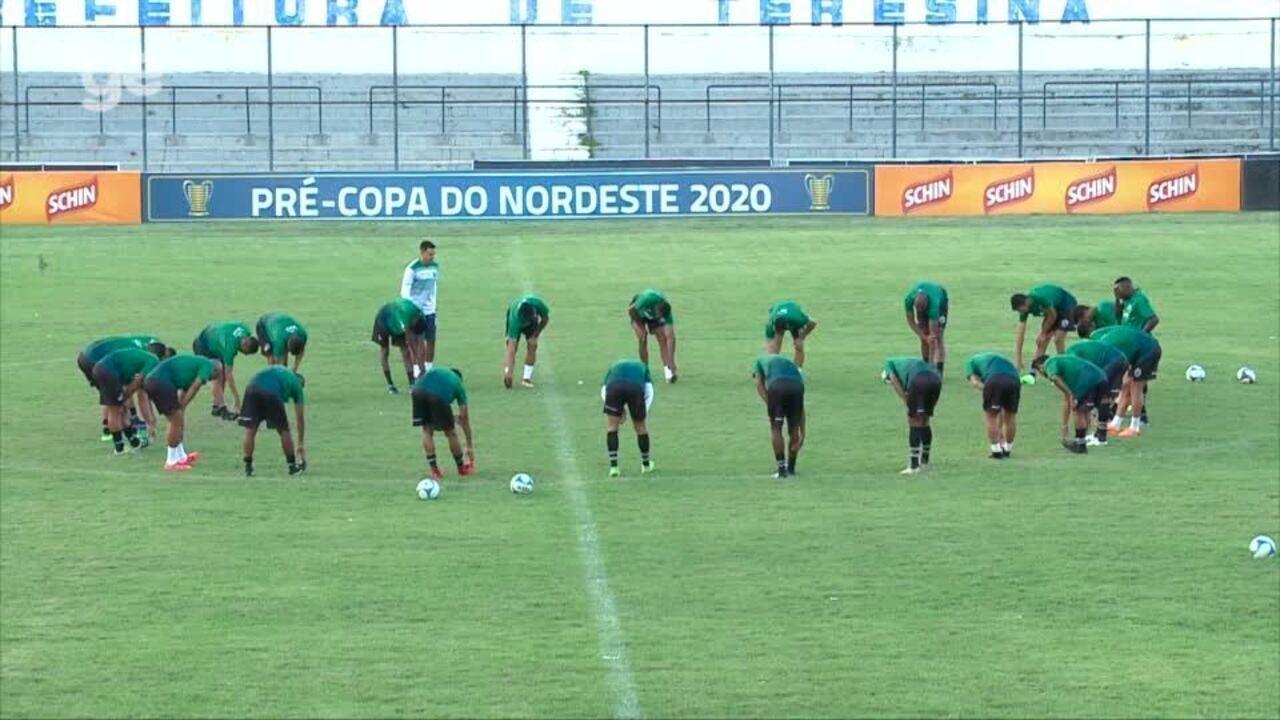 Altos encerra preparação para duelo contra ABC, na luta por vaga na Copa do Nordeste 2020