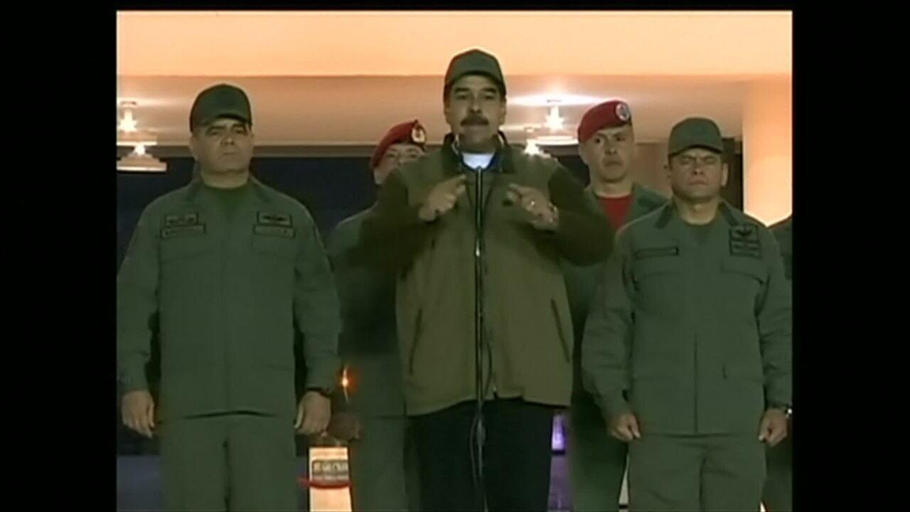 Crise na Venezuela: Maduro marcha com militares, e Justiça ordena prisão de opositor