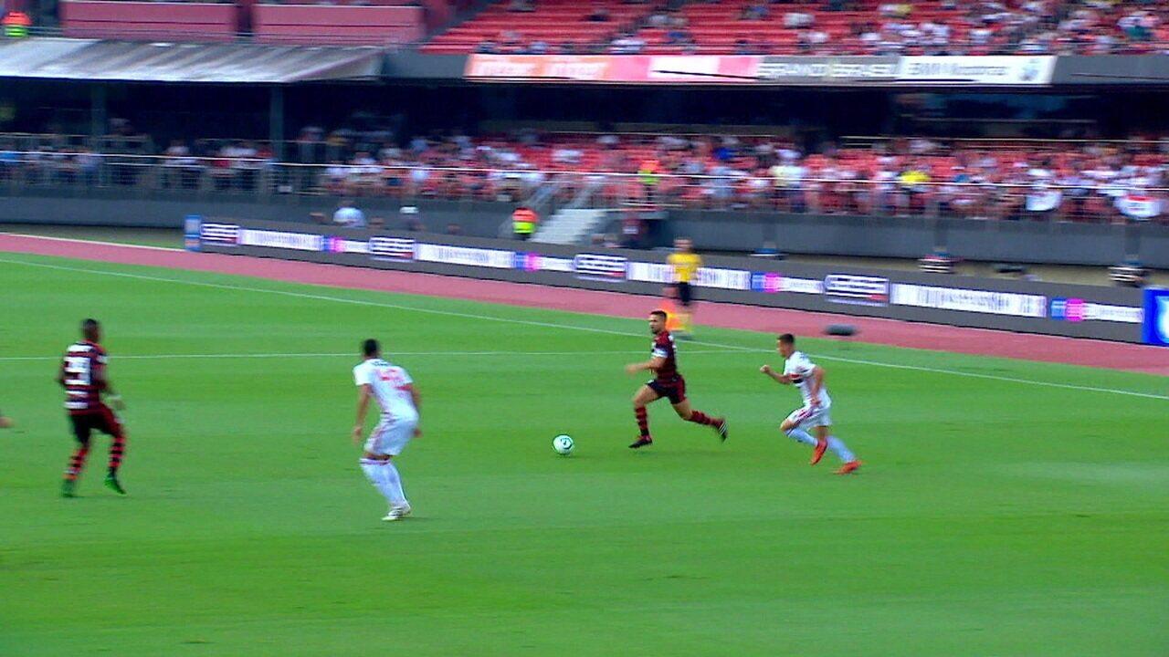 Walce estreou pelo São paulo em partida contra o Flamengo, no Morumbi