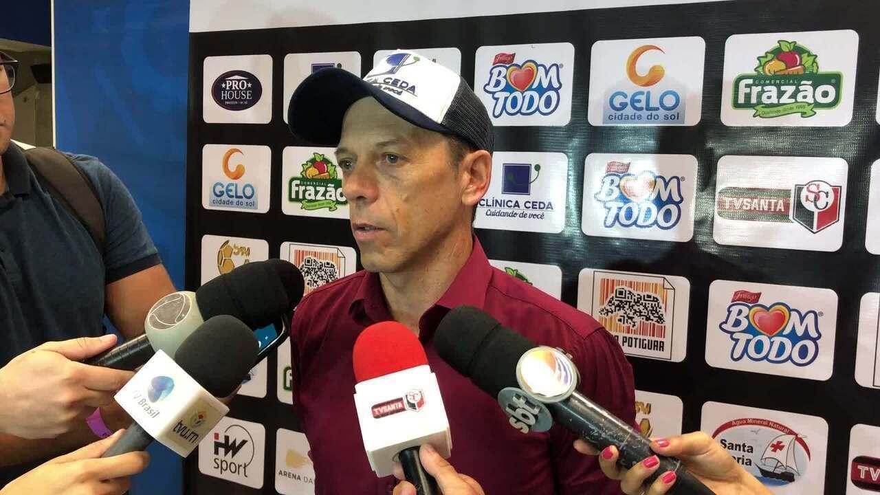 Fernando Tonet comenta empate do Santa Cruz de Natal com o Floresta