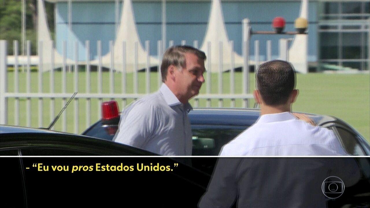 Presidente Jair Bolsonaro diz que vai aos Estados Unidos
