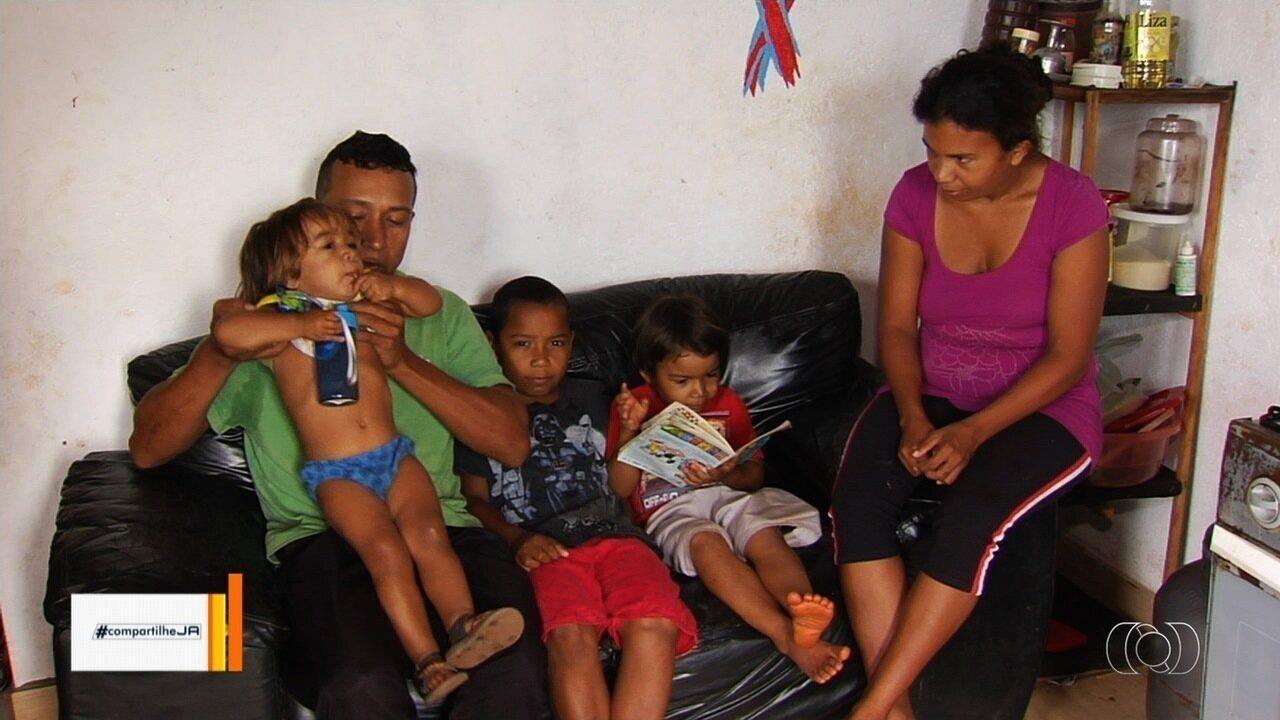 Família do Pará precisa de ajuda para se manter em Senador Canedo