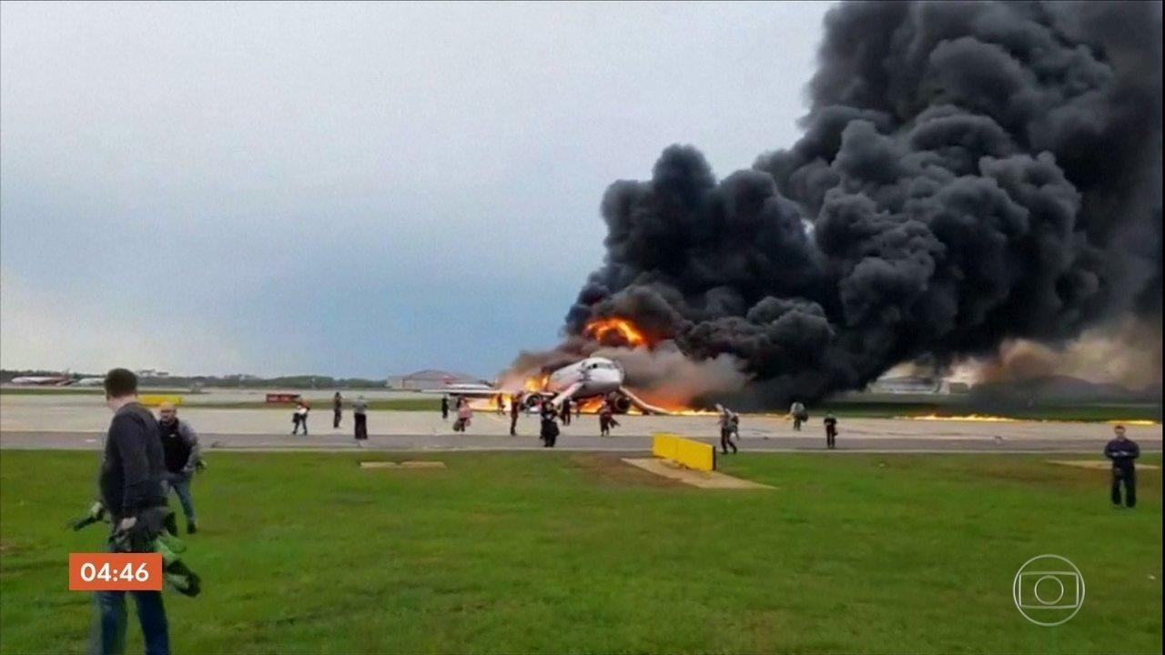 Ministro confirma que os 41 corpos foram recuperados após explosão de avião na Rússia
