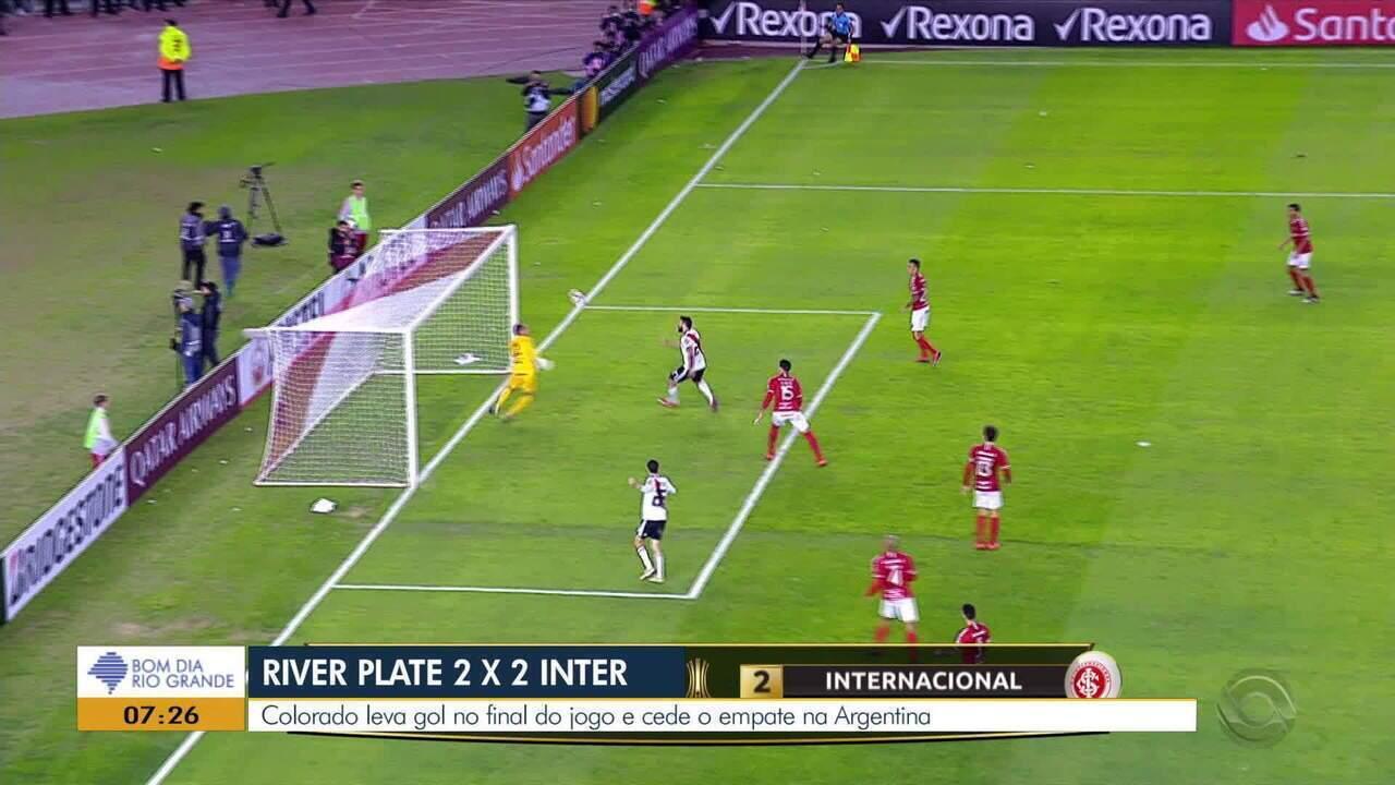 Confira os melhores momentos do Inter contra o River Plate