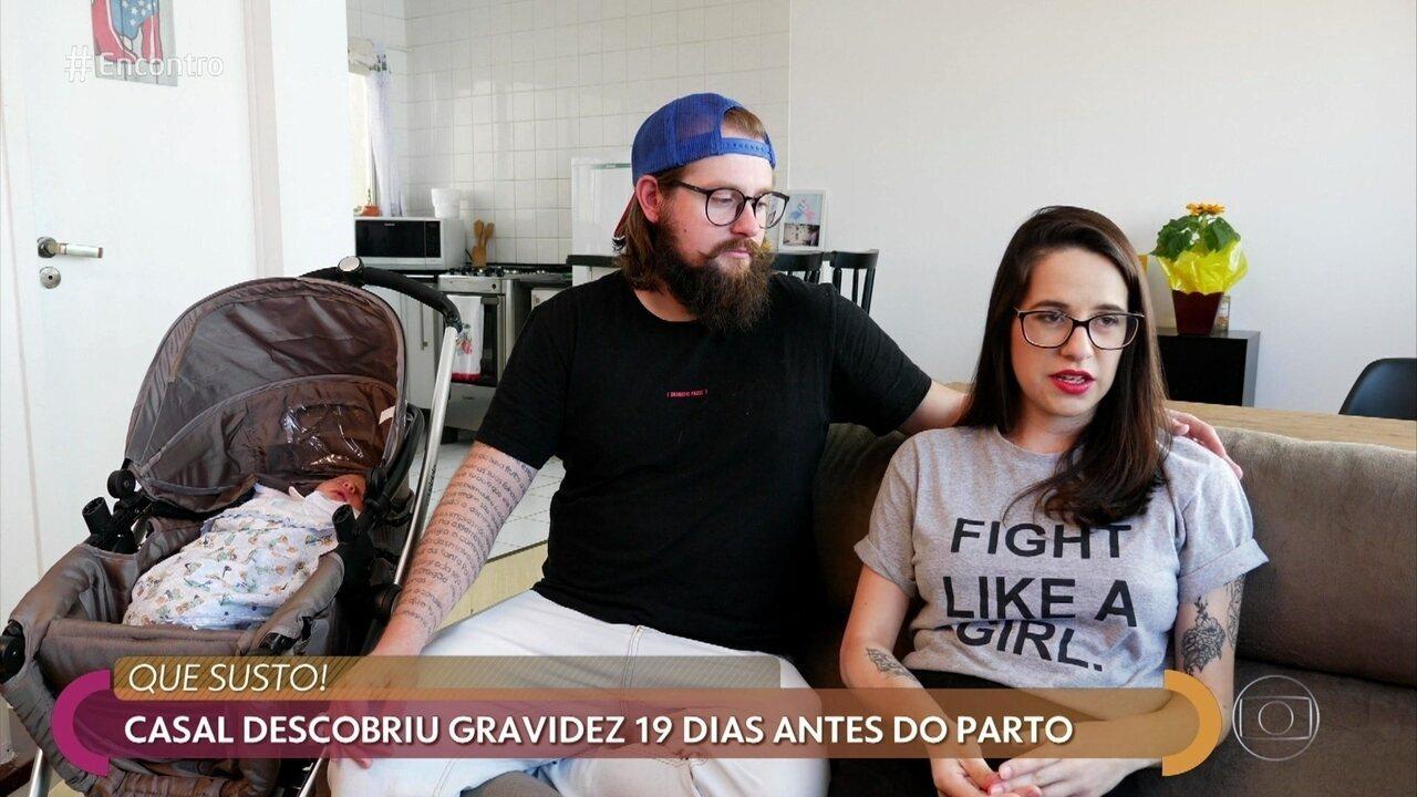 Lana e Arthur descobriam que estavam grávidos 19 dias antes do parto