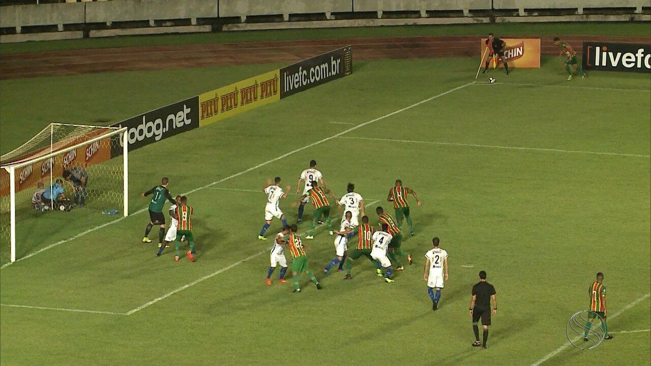 Confiança derrota o Sampaio Corrêa por 2 a 0 e está na Copa do Nordeste 2020