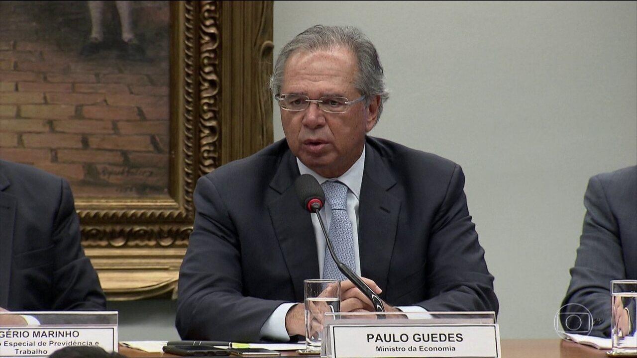Guedes vai à comissão especial da Câmara que discute o conteúdo da reforma da Previdência