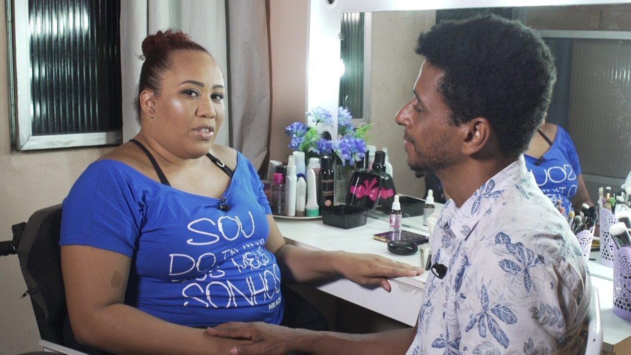 Aldri bate-papo com a maquiadora Maili Santos, orientada pelo projeto Vale do Dendê