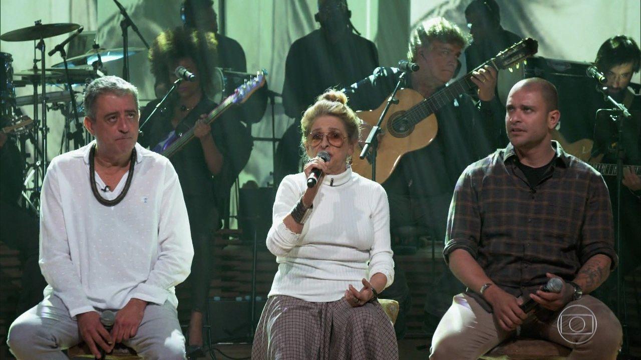 Diogo Nogueira, Didu Nogueira e Gisa Nogueira cantam clássico de João Nogueira