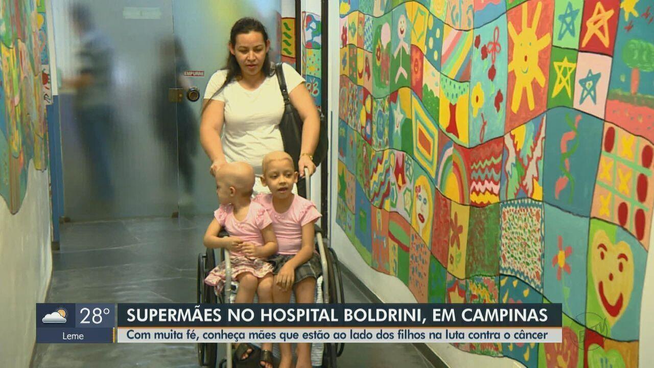 Mães lutam ao lado dos filhos contra o câncer em Campinas