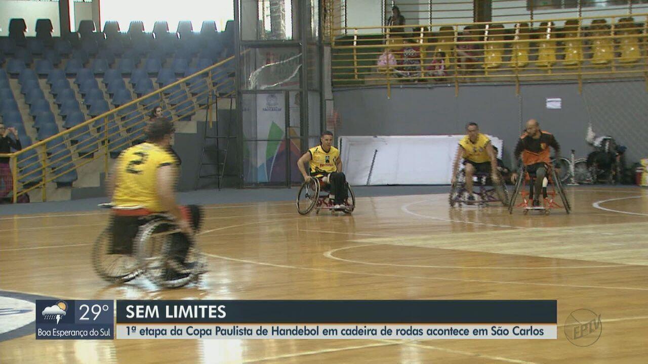 1ª etapa da Copa Paulista de Handebol em cadeiras de rodas é realizada em São Carlos