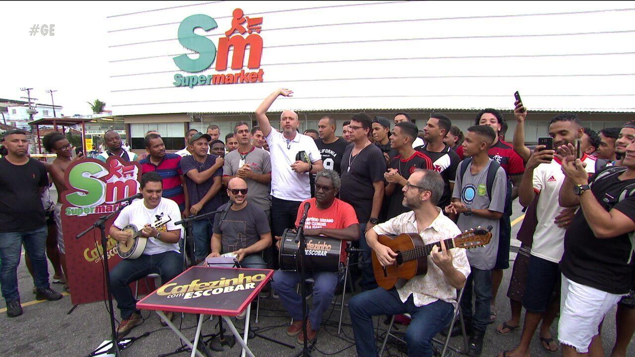 Cafezinho com Escobar ouve a opinião dos torcedores cariocas em Maria da Graça