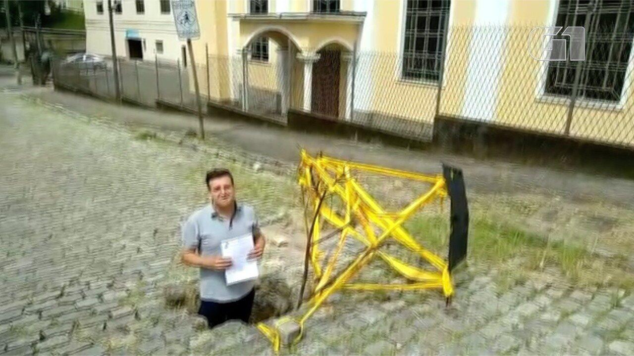 Vereador Marcelo Lessa denuncia excesso de buracos nas ruas de Petrópolis, no RJ
