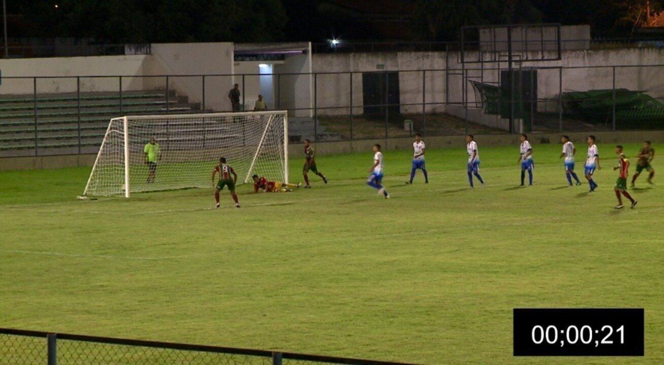Fluminense-PI leva 21 segundos para marcar gol depois de sair atrás do placar