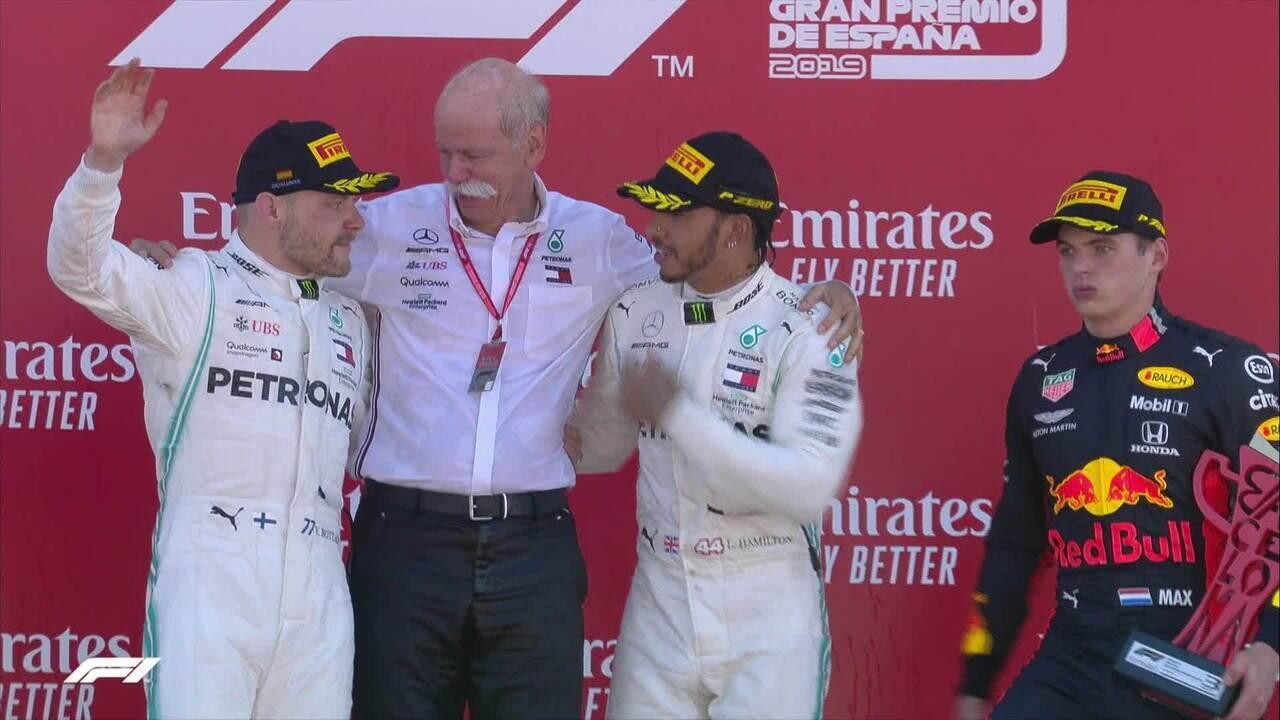 Íntegra da entrevista dos pilotos e do pódio do GP da Espanha de Fórmula 1