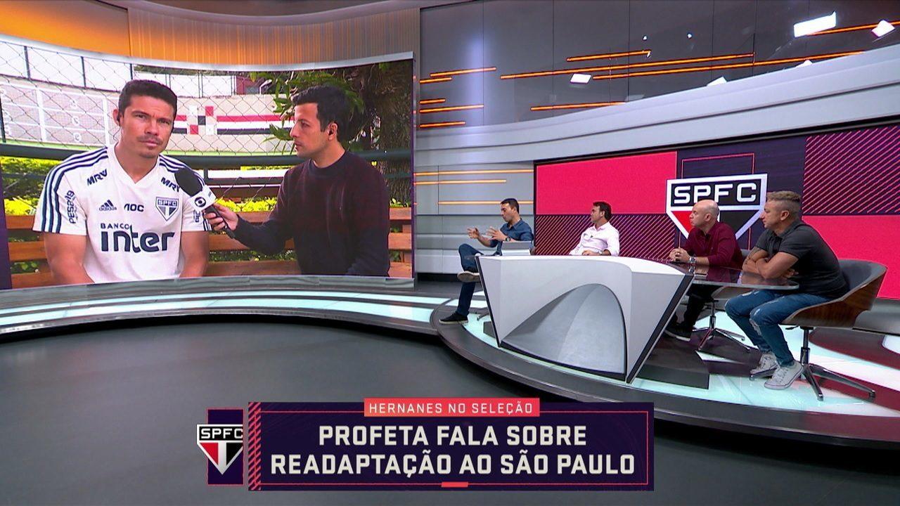 Veja a participação de Hernanes, do São Paulo, no Seleção SporTV