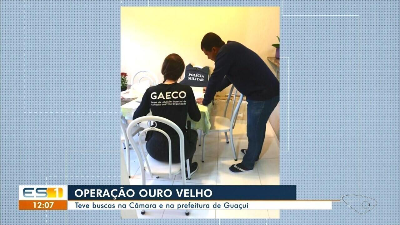 Servidores são presos em operação que investiga fraudes na prefeitura e Câmara de Guaçuí