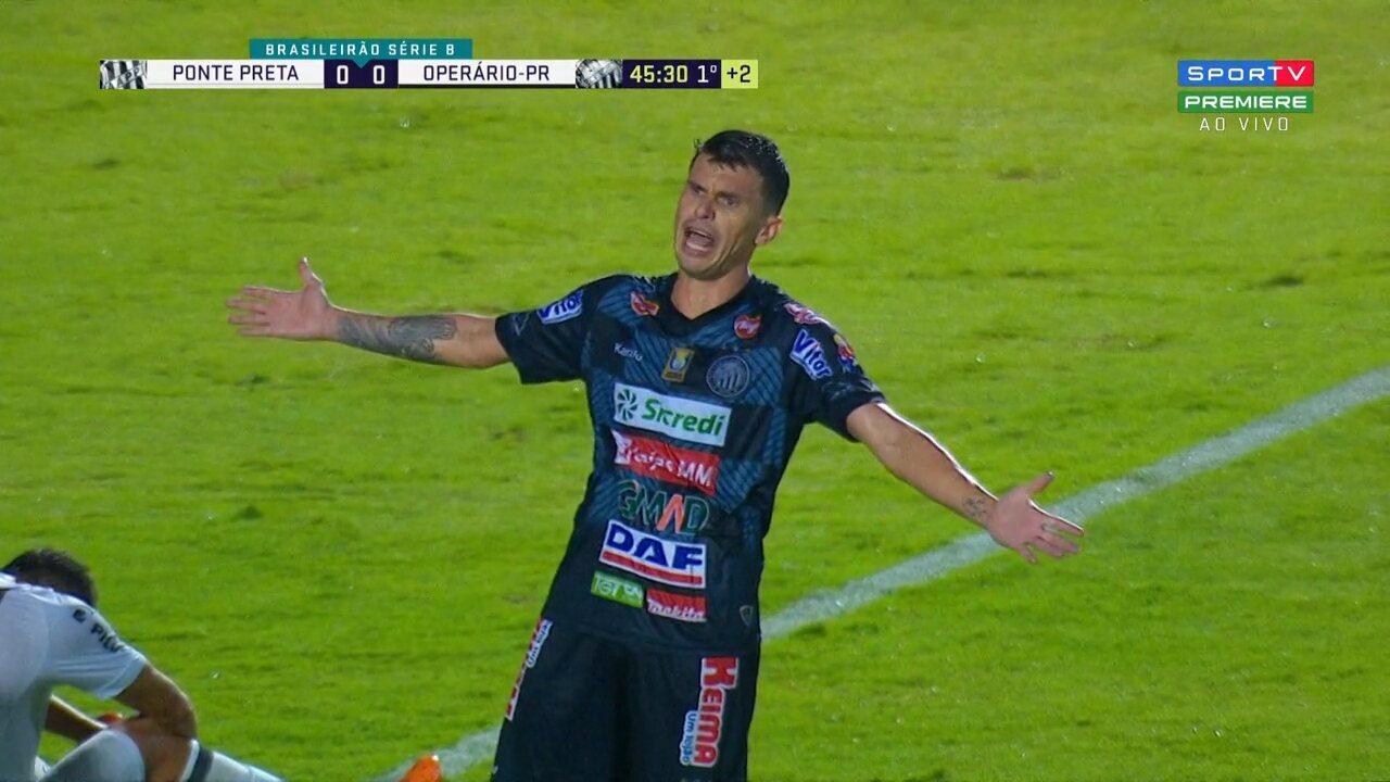 Rafael Chorão finaliza de fora da área e a bola passa perto do travessão de Ivan