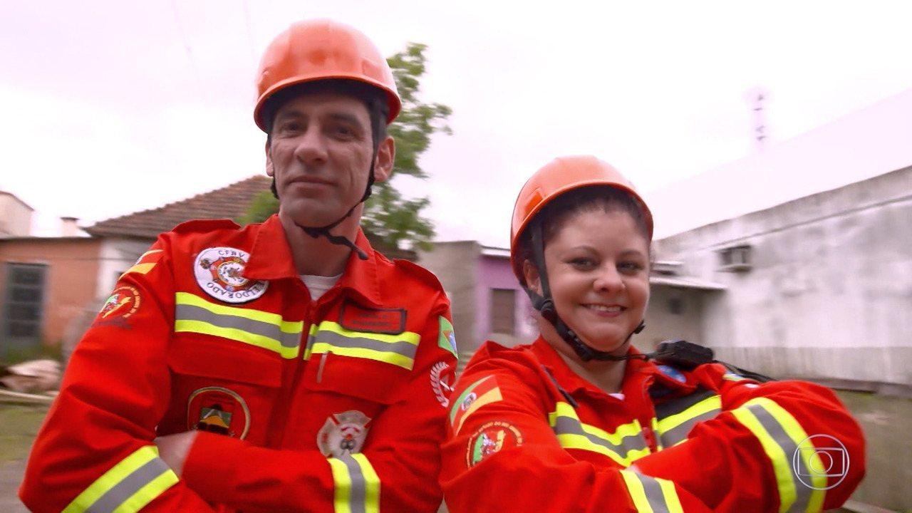 Bombeiros voluntários vão ao 'The Wall' para custear melhorias na base de trabalho