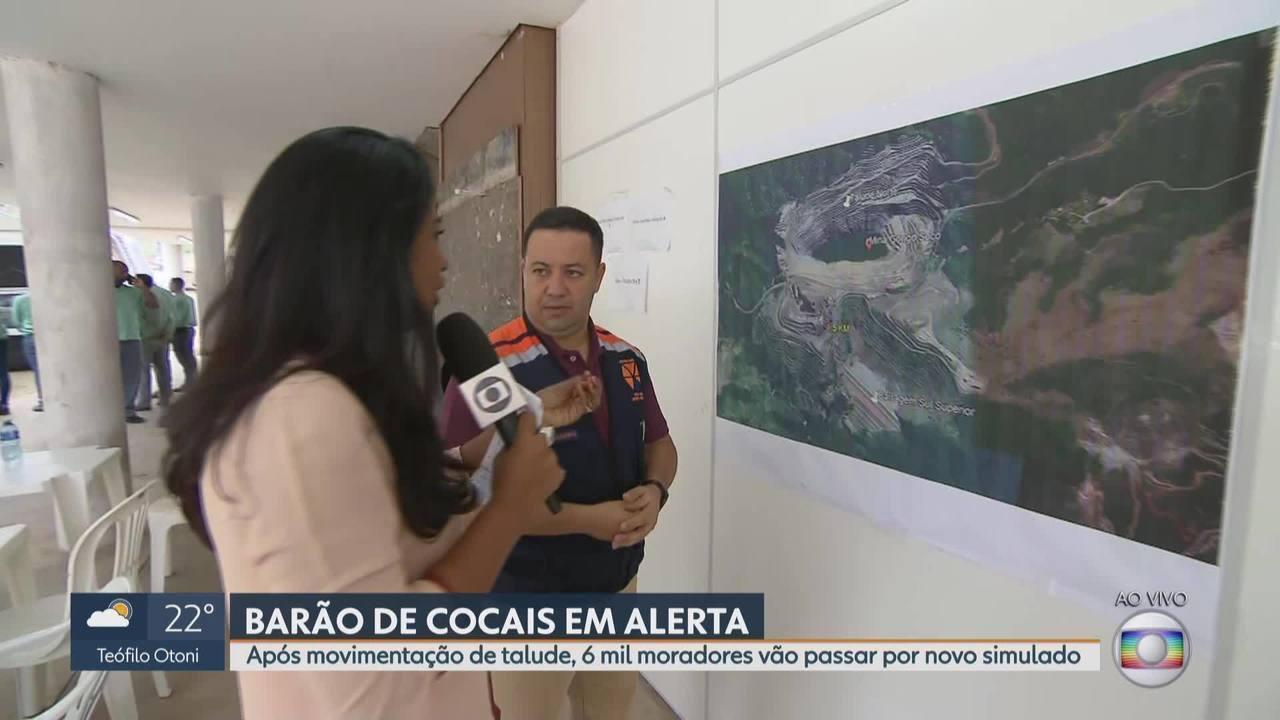Moradores de Barão de Cocais, na região central de Minas, vão passar por simulado