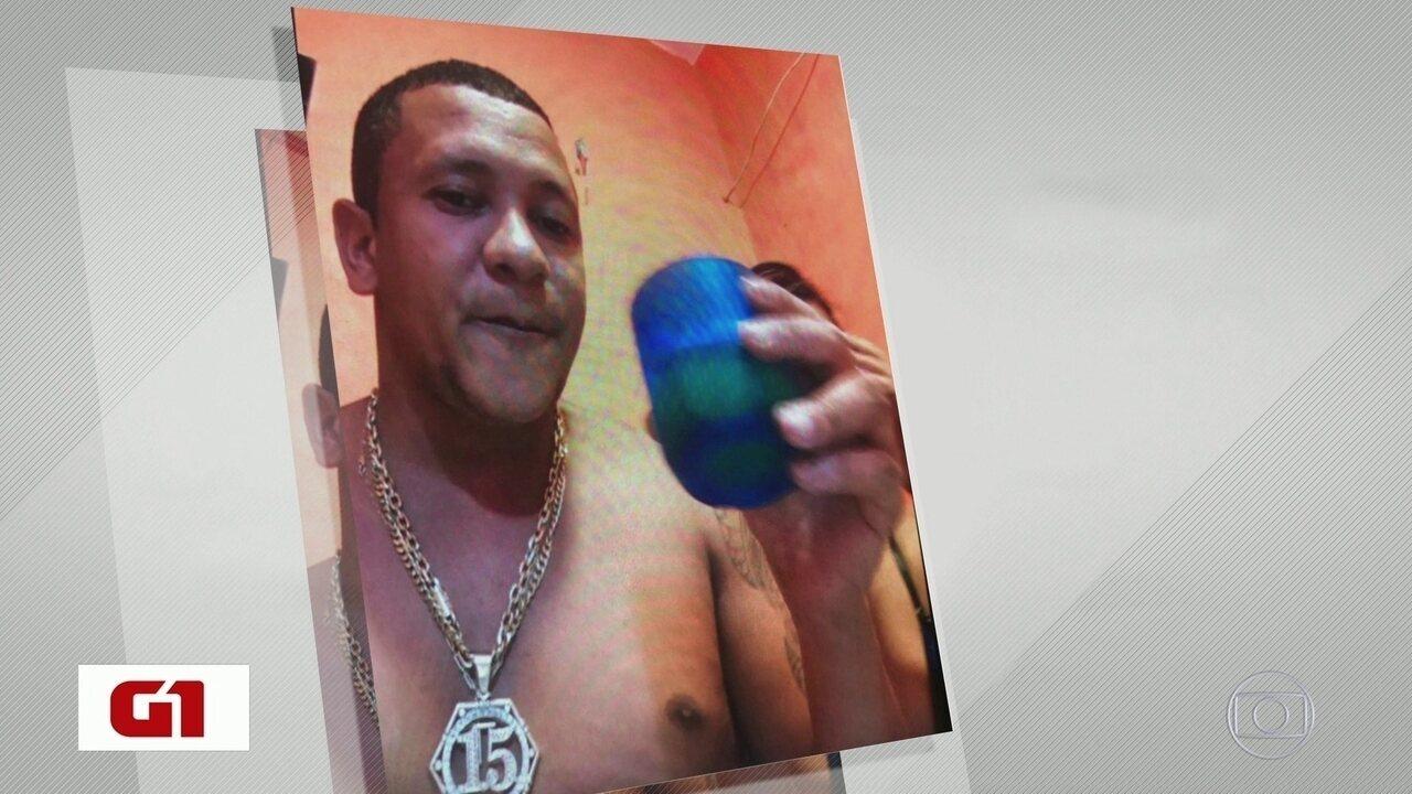 Traficante preso aparece em fotos bebendo cerveja com a mulher dentro da cadeia